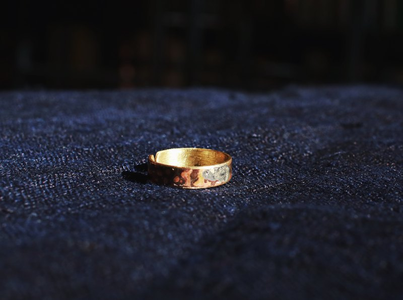 MU solar eclipse series brass narrow ring