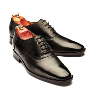 Lin Guoliang Saddle Oxford Shoes Saddle shoes Classic Black