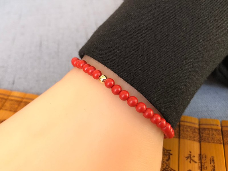 The birth year cinnabar bracelet (customized)