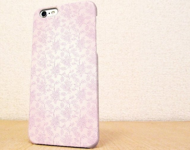 (Free shipping)iPhone case GALAXY case ☆ 花のシームレスパターン ピンク スマホケース