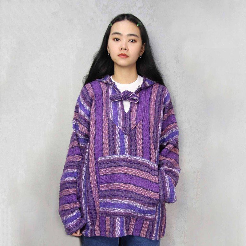 Tsubasa.Y Ancient House A05 Psychedelic Purple Mexican Wool Hat Tee, Baja Hoodie