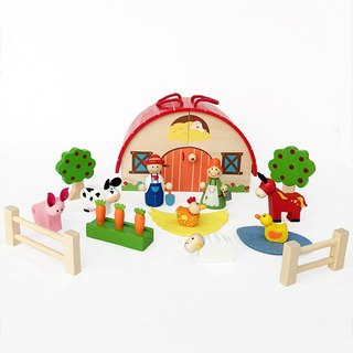 Story house - Portable wooden farm playset