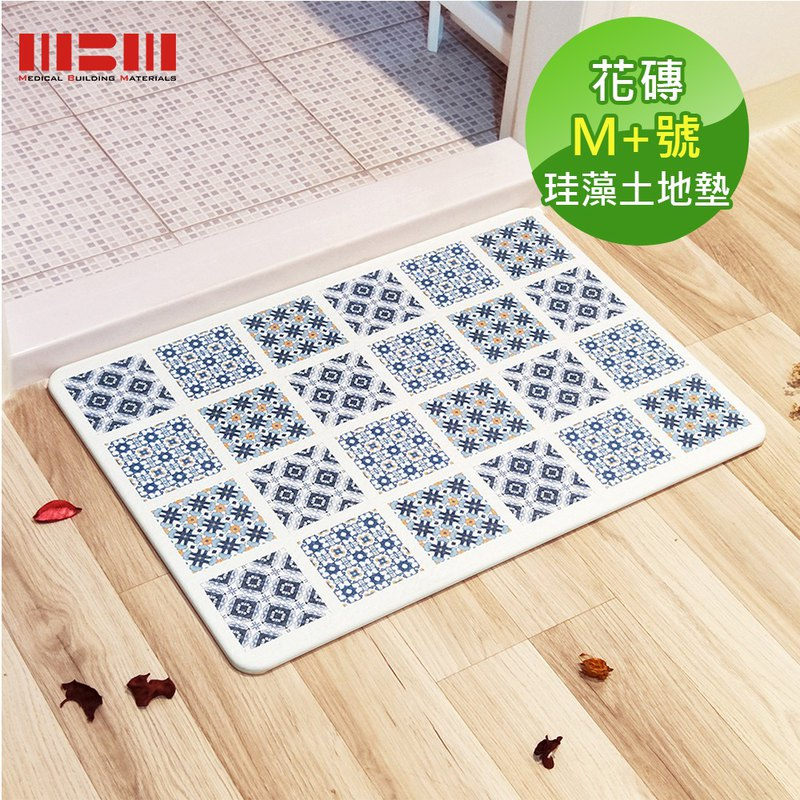 [MBM] retro image tile M+ water-washed algae land mat foot pad