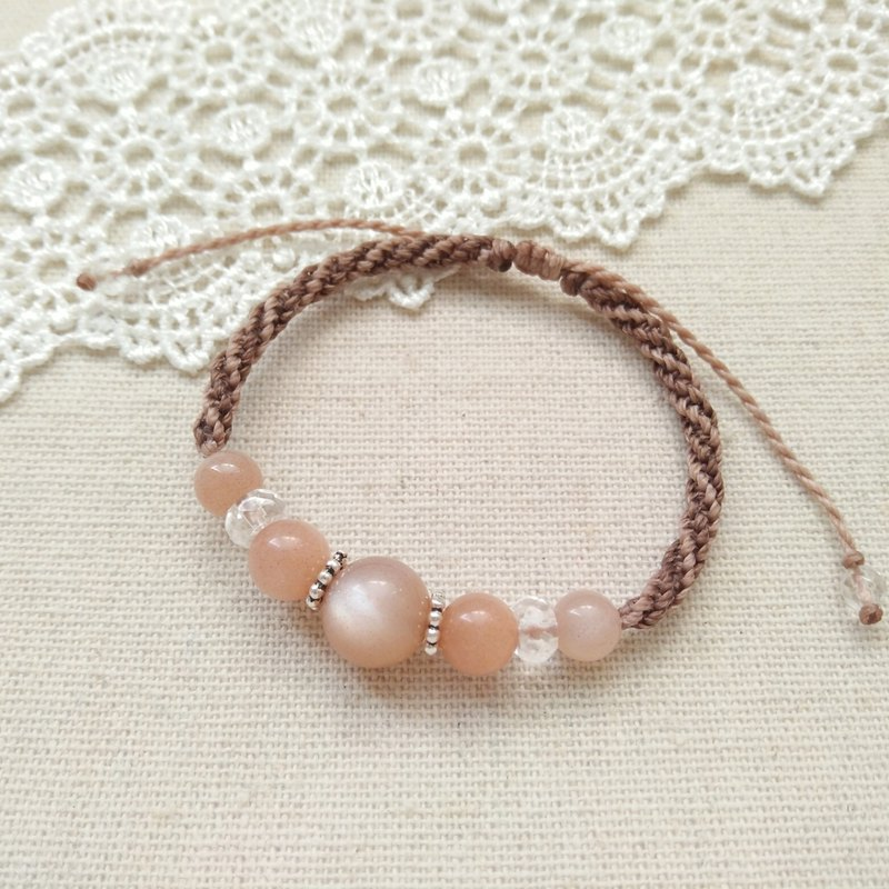 gallery. Warm your heart. Orange Moonstone X South American Brazilian Wax Bracelet
