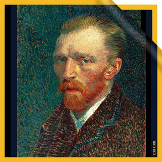 【Vincent van Gogh - Self-Portrait 】 Silk Scarf 【Japanese Style】【Christmas Gift】
