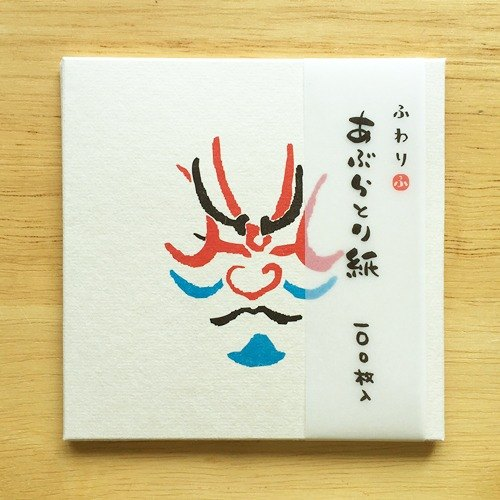 Japanese Iyo and paper Fuwari oil-absorbing facial paper 100 [Kabuki (FWA006)]