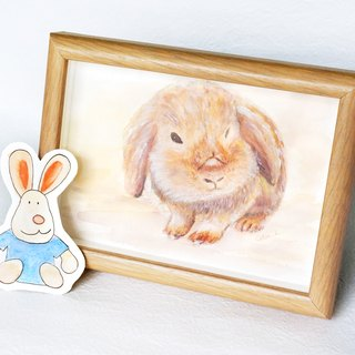 Custom Pet Drawing - watercolour painting - lovely animals