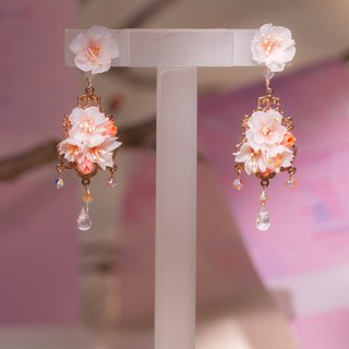 BLOSSOM Chandelier 2-way 925 Silver Earrings