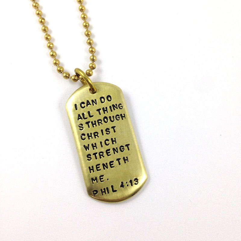 Ohappy custom series. Army Brass Necklace