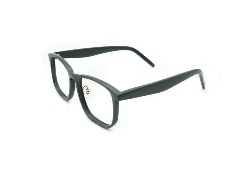 [Manual staff glasses-matte] dark night black (square)
