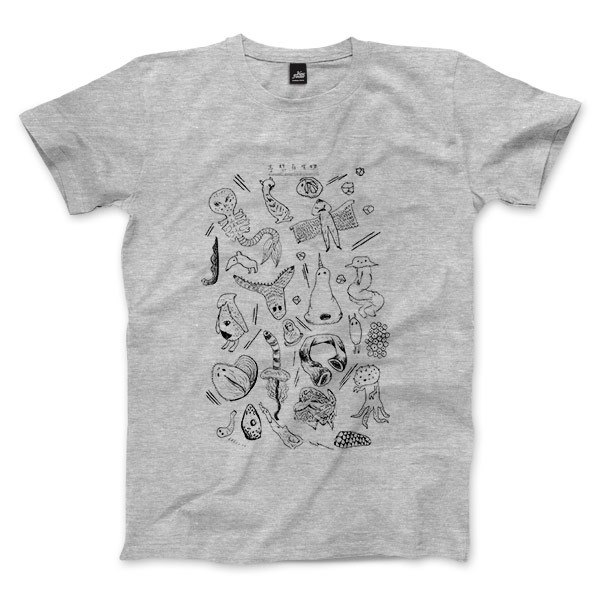100 Biological expected - dark gray linen - Unisex T-Shirt