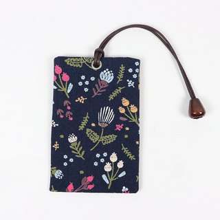 Youyou card ID card set card holder card bag - small floral (blue)
