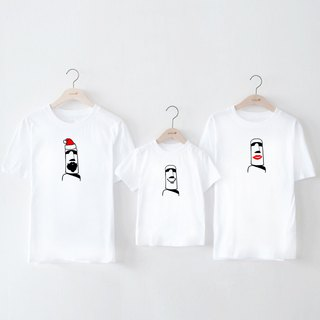 Moai Santa Lips smile couple kid white t shirt