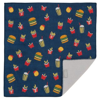 Japan Made + ima WAFUK Design, Soft, Cute & Unique Handkerchief towel -Hamburger