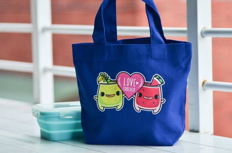 Summer juice ice canvas small bag (lunch bag) double drink bag