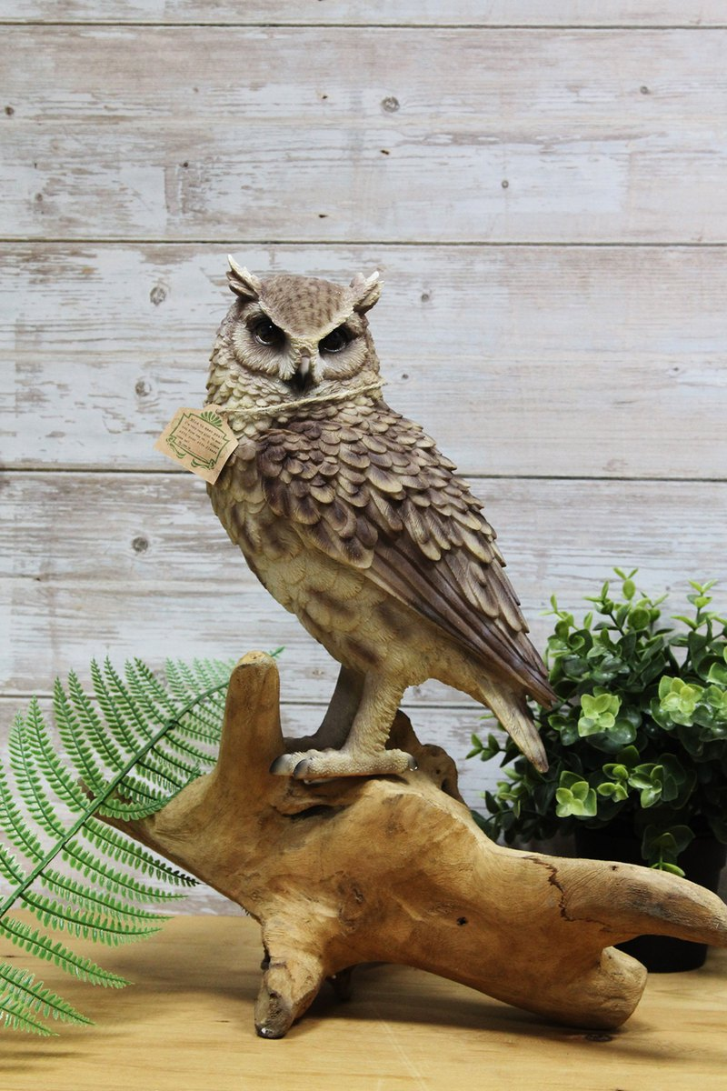 Japan Magnets Healing Series Table Decorated Owl Money Box (Long Eared Owl)