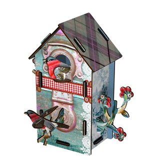 SUSS-Italian MIHO imported gorgeous wooden design double-layered bird house ornaments (CASA M-38) (middle)