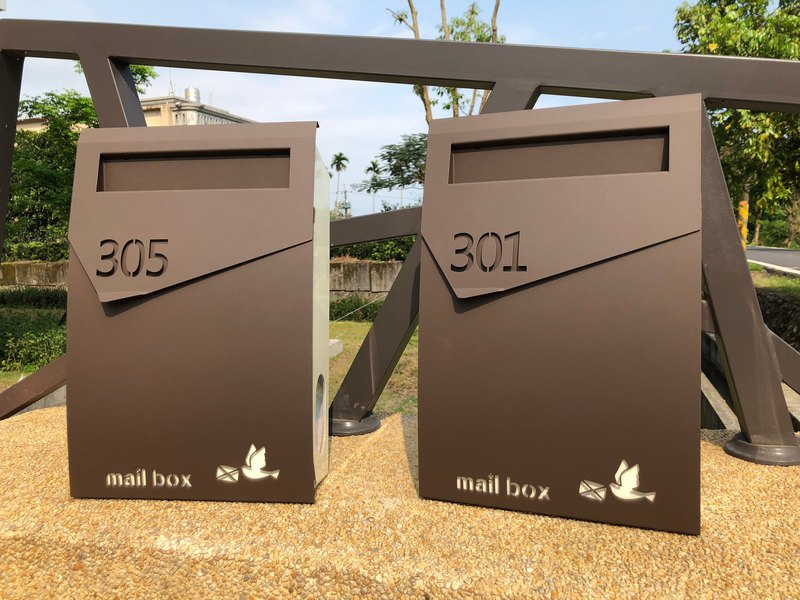 Top design letter box engraved digital special order page stainless steel letter box stainless steel letter box