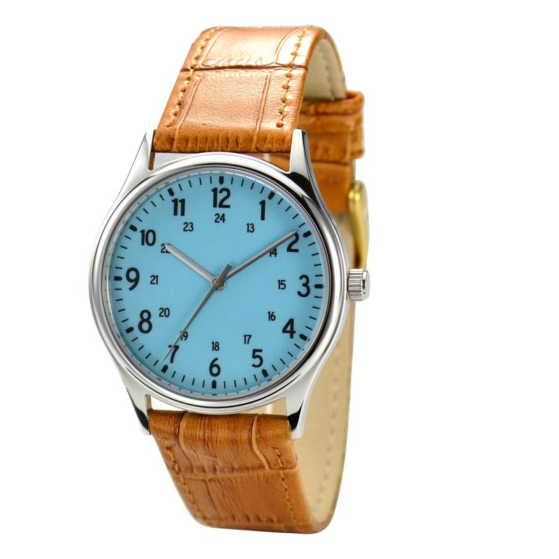 Minimalist number watches 1-24 Island Paradise Face I Unisex I Free Shipping