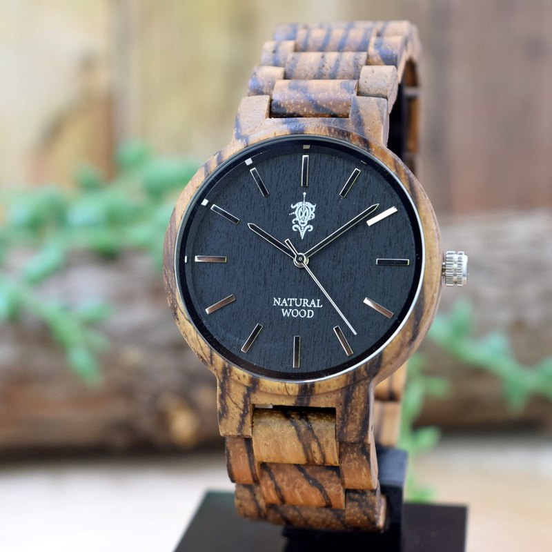 EINBAND Dank Zebrawood 40mm  Wooden Watch