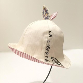 Handmade Tulip hat of the leaf red stripe