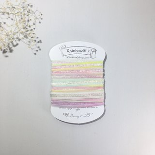 【handdyed yarn/ rainbow/ DIY/ craft material/ handmade/ colorful/ wool/ ribbon】
