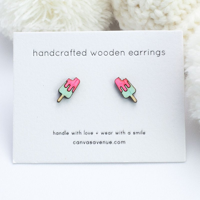 Popsicle Earrings, Popsicle Stud Earrings