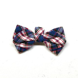 Handmade Tartan/ Plaid Pet Dog Collar Accessory - Bowtie - British Blue【ZAZAZOO】