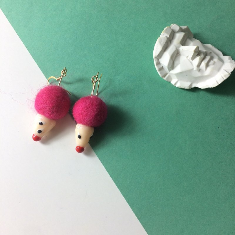 pinkmimi clay earrings - handmade