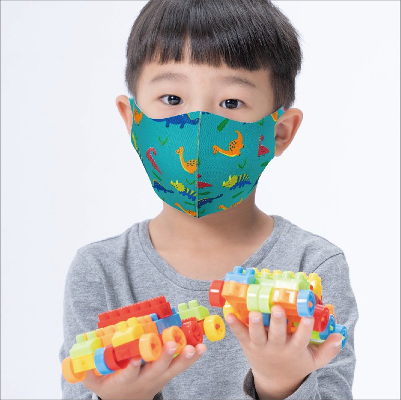 [Pay attention to export suspension before 4.30] Children-Naughty Dinosaur-3D Three-dimensional Ventilation Mask 1pc