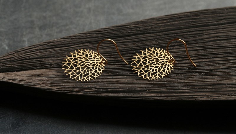 Golden Tree Earrings Woods Earrings (Gold)