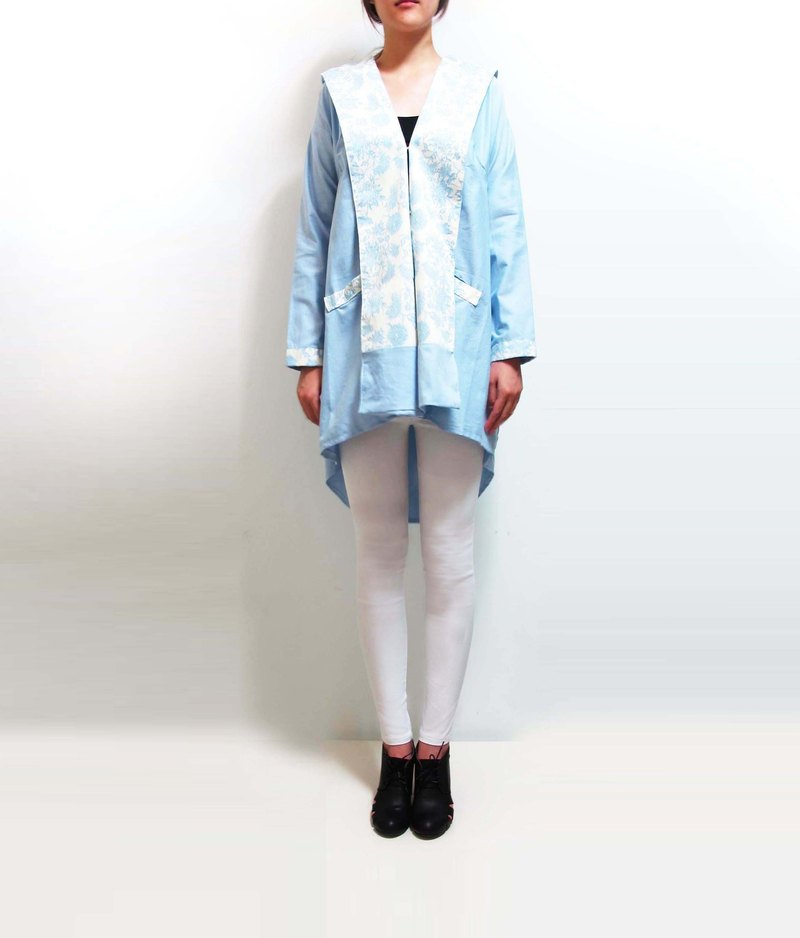 Wahr_ light blue pattern jacket