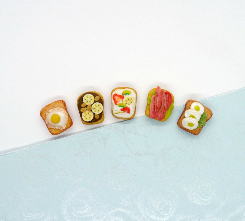 吐司組合耳環 任選2個口味 Toast Earring Set  Choose Any 2