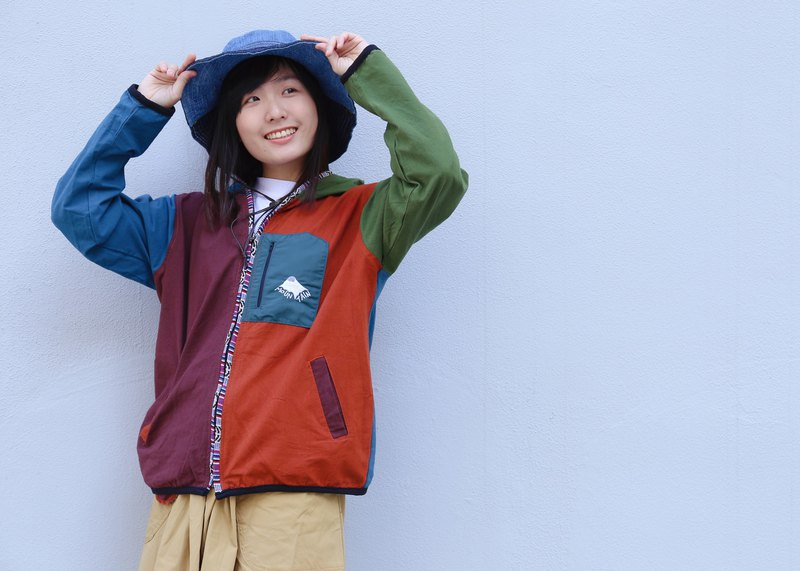 【Patchwork Outdoor Mountain Cotton Linen Jacket】