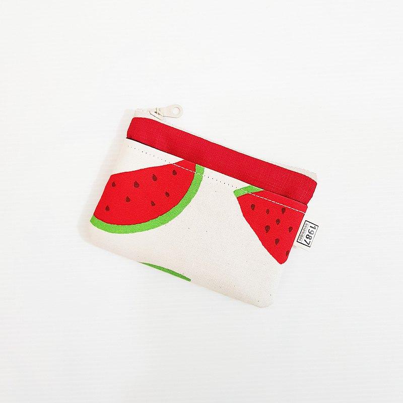 【大西瓜(紅)】 少女系!!! 零錢包 手拿包 隨身包 拉鏈袋 聖誕禮物