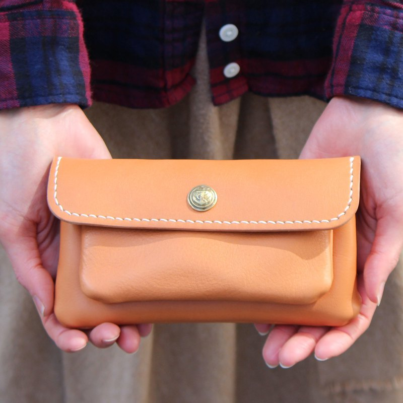 mare-wallet Natural Tochigi Leather Purse