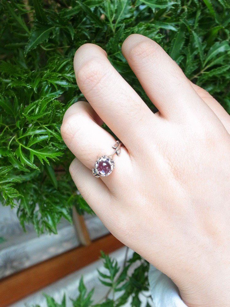 Classical Ledged Gemstone Ring - Amethyst 925 Sterling Silver