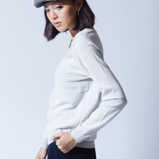 Fleece crew neck sweater - laid-back rice
