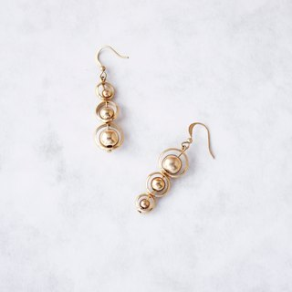 Simple geometry. A bunch of a string of brass earrings sister girlfriend Mother's Day birthday gift