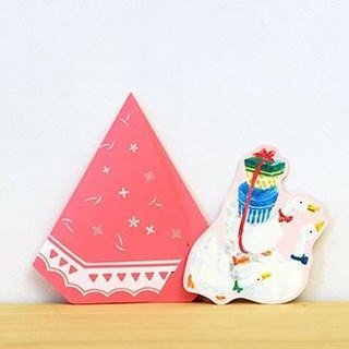 Greeting card/Duck's tent/pink