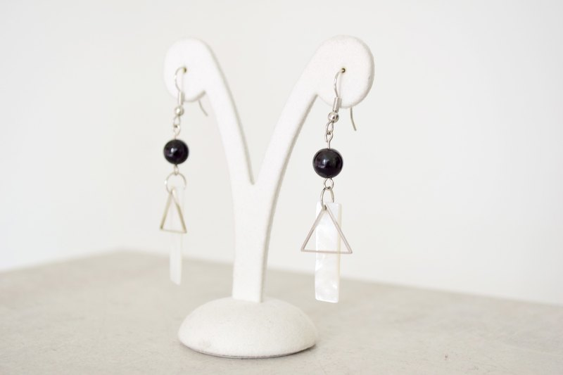 Paisible Serenity Placido-Natural Ore Stainless Steel Earrings