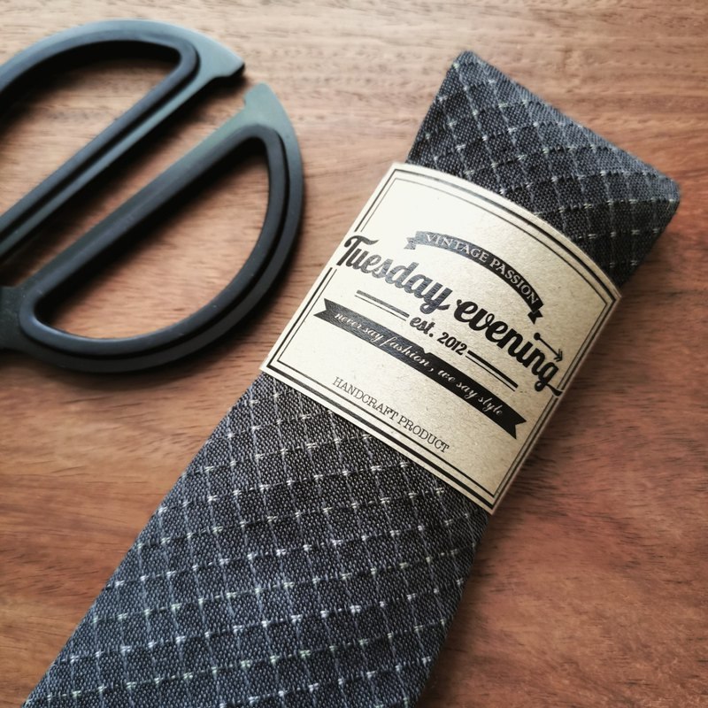 Neck Tie Dark Grey Square Table