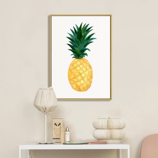 Living room sofa background decoration painting Nordic fresh style painting pineapple