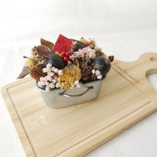 [Bring good luck] tinplate dry table flower decoration