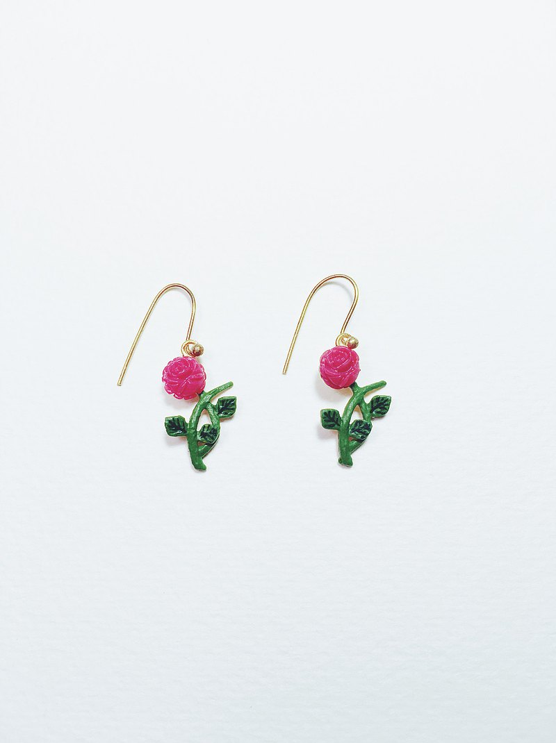 Hand-painted earrings-roses