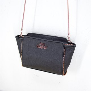 Aristocat Waterproof Heavy Denim 2 Ways Zip Mini Bag