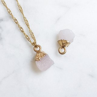 ::Gold Mine Series :: Powder Agate Clavicle Necklace