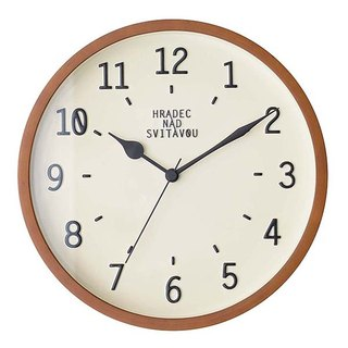 Norjso- Simple Macaron Silent Clock Wall Clock (White)