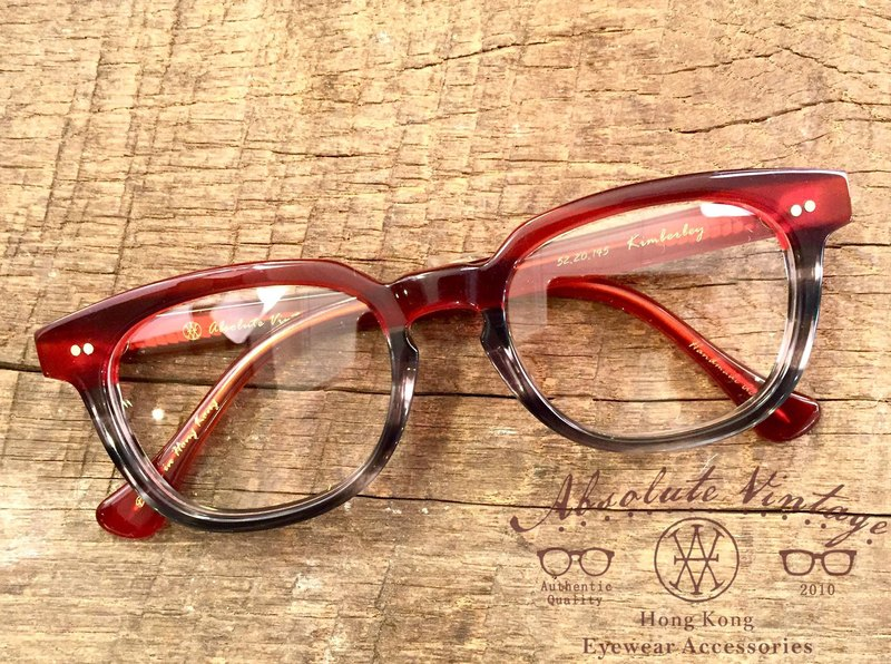 Absolute Vintage - Kimberley Road Kimberley Dow Corning Box Mixed Color Glasses - Red Red