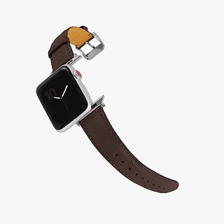 Multicolor Real Leather Macaron Dream Chocolate Brown Apple Watch Apple Watch Strap
